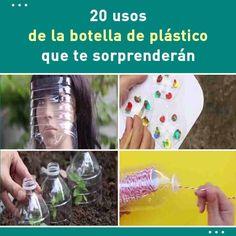 38 usos de la botella de plástico que te sorprenderán  #diy #botellas #reciclar #plastico #consejos #casa