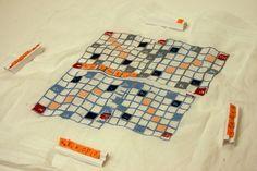 CNC Embroidery: Fabric Scrabble-like Board