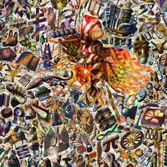 Richard Killeen Engine, 2009, unique archival inkjet print on canvas, 1350 x 1350 mm