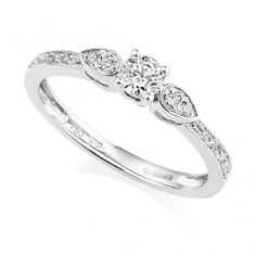 51c15913dbff6 Berry s Petite Collection 18ct White Gold Three Stone Diamond Ring