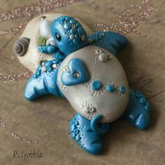 Your place to buy and sell all things handmade Polymer Clay Creations, Polymer Clay Crafts, Aesthetic Objects, Turtle Time, Polymer Project, Play Clay, Polymer Clay Animals, Animal Decor, Sea Turtles