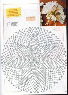 Crochet doily with diagram.