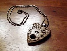 Ouija Planchette Pendant Necklace Goth Fortune Oracle