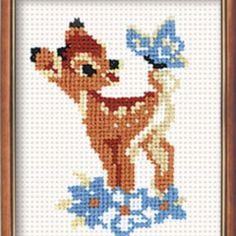 J'ai passé  ma commande de  Riolis Kit Point de Croix compté Faon et Papillon Bambi-Counted Cross Stitch Kit sur Lish, € 5,10