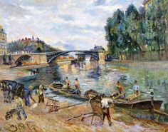 The Athenaeum -GUILLAUMIN, Armand French Impressionist (1841-1927)_The Pont de Sully, Paris- circa 1886