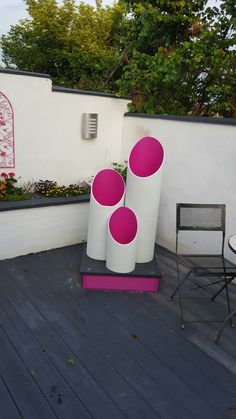 Bow thrusters off a boat make funky art for the garden.
