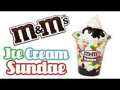M&M Ice Cream Sundae - Miniature Baskin Robbins Clay Tutorial