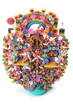 Arbol De La Vida- Mexican Clay Sculpture