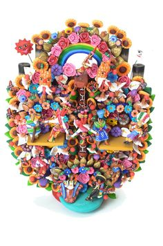 Arbol De La Vida- Mexican Clay Sculpture