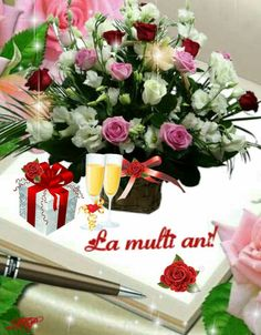 La Multi Ani Gif, An Nou Fericit, Happy Aniversary, Star Of The Week, My Flower, Flowers, Happy Birthday Images, Son Luna, Birthday Wishes