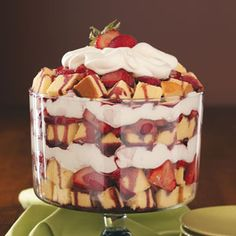 Zinfandel Strawberry Trifle:    Strawberries, cake, whipped cream and WINE...does it get any better than this?