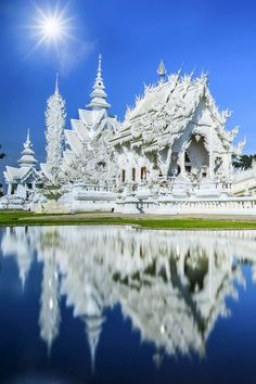 Rong Khun temple, Chiang Rai province, northern Thailand One of my favorite temples I've studied. Chiang Rai, Thailand Travel, Asia Travel, Thailand Vacation, Thailand Tourism, Travel Tips, Cambodia Travel, Vacation Travel, Places To Travel