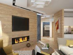Chimeneas Modernas: Con madera