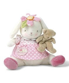 Another great find on #zulily! White & Pink Blossom Bunny Plush by Bunnies by the Bay #zulilyfinds