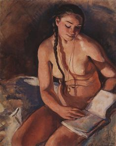 Nude with Book by Zinaida Serebriakova