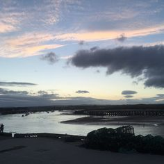 Amble Harbour as seen from the Fish Shack #amble #northumberlandcoast