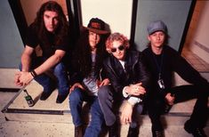 Alice In Chains photographed backstage in Berlin in 1993