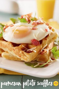 A savory take on waffles is the perfect recipe to serve at your next brunch.