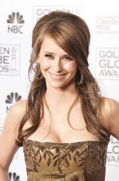 Celebrity Half-up Half-down Hairstyles 2015 Jennifer-Love-Hewitt Chic Hairstyles, 2015 Hairstyles, Popular Hairstyles, Pretty Hairstyles, Wedding Hairstyles, Hairstyle Ideas, Mary Kate Olsen, Leighton Meester, Peinados Jessica Alba