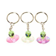 Glow in the Dark Alien Best Friend Key Rings Alien Party, 90s Party, Biscuit, Alien Aesthetic, Claire's Accessories, Child Of The Universe, Space Grunge, Key Chain Rings, Cute Jewelry