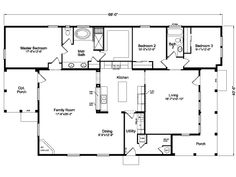 U003eThe La Linda This Might Work Dining And Family Room Facing Creek. Opt  Porch · Modular Floor ...