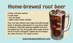 Home-brewed root beer - Deringa Retro Recipes, Old Recipes, Vintage Recipes, Drink Recipes, Yummy Recipes, Recipies, Beer Brewing, Home Brewing, Refreshing Drinks
