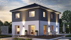 Fertighäuser Exterior House Lights, Dream House Exterior, Exterior House Colors, Architectural House Plans, Loft Interior Design, Loft Interiors, Prefabricated Houses, Beautiful Homes, New Homes