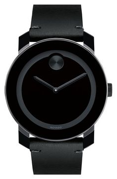 c2b7a53b0 Movado 'Bold' Leather Strap Watch, 42mm available at #Nordstrom Lyxklockor,  Unisex