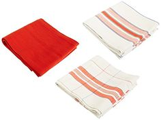Le Creuset Kitchen Towels Cerise Cherry Red