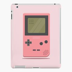 'Pink Nintendo Game Boy ' iPad Case/Skin by SinandTonic Ipad 4, Ipad Case, Nintendo Games, Nintendo Consoles, Lip Designs, Game Boy, Style Snaps, Iphone Wallet
