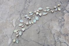 White+Bridal+Hair+Vine++Leaf+Bridal+Hair+by+CherylParrottJewelry,+$51.95    Think I could do this too