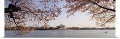 Poster Print Wall Art Print entitled Monument at the waterfront, Jefferson Memorial, Potomac River, Washington DC, None