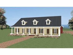 Eplans Country House Plan - Just Country - 2440 Square Feet and 4 Bedrooms from Eplans - House Plan Code HWEPL68649