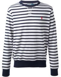 Ralph lauren Stripe Sweater in Blue for Men (white) | Lyst created by #ShoppingIS