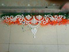 Easy Rangoli Designs Videos, Rangoli Side Designs, Easy Rangoli Designs Diwali, Rangoli Borders, Rangoli Patterns, Free Hand Rangoli Design, Rangoli Ideas, Rangoli Designs Images, Beautiful Rangoli Designs