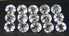 Masterpiece Natural African White Topaz 3 MM Cut 5 Piece Round VVS Loose Gem AAA
