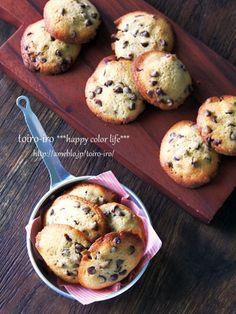 チョコチップドロップクッキー : トイロ Muffin, Sweets, Vegetables, Breakfast, Food, Morning Coffee, Gummi Candy, Candy, Essen