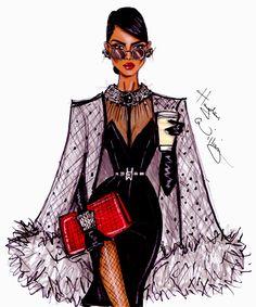 #Hayden Williams Fashion Illustrations #New York, New York' by Hayden Williams