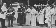 "zolotoivek: "" Emperor Nicholas II and Empress Alexandra Feodorovna with their children in Rostov, 1913. """