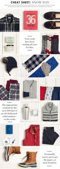 Cheat Sheet: Snow Day | J. Crew