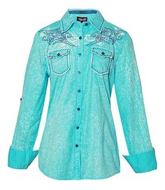 beautiful, light, fun cowgirl shirt... for $97.50... sheesh