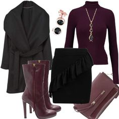 Bordeaux Passion #fashion #style #outfit #look #dress #mode #sexy #trend #luxury