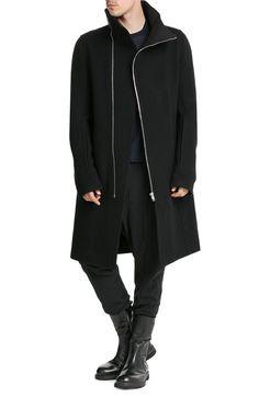 RICK OWENS MEN Manteau en laine à zip asymétrique € 1.219