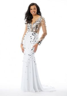 Morilee 46040 Dazzling Shattered Glass Prom Dress