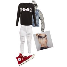 Halloween Outfit #1 by treppenwits on Polyvore featuring polyvore, fashion, style, Abercrombie & Fitch and Converse