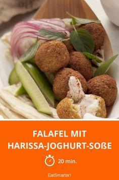 Falafel mit Harissa-Joghurt-Soße - smarter - Zeit: 20 Min. | eatsmarter.de