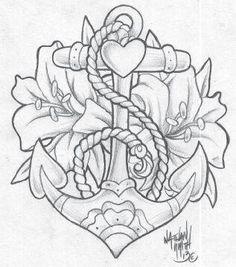Tattoo old school anchor tatoo 64 Ideas Rose Tattoos, Flower Tattoos, Body Art Tattoos, New Tattoos, Sleeve Tattoos, Tatoos, Girl Thigh Tattoos, Traditional Roses, Traditional Tattoo