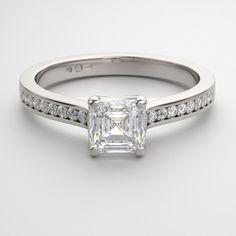Ascher cut diamond ring.  Beautiful.