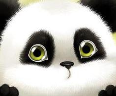 Cute Cartoon Panda Wallpaper