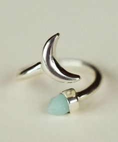 Silver Equinox Moon Ring- fully adjustable: can be worn above knuckles, on toes, anywhere!